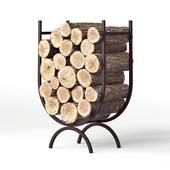 Large Iron Log Holder