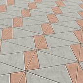 Брусчатка из треугольных плит
