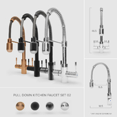 Pull-Down Kitchen Faucet Set 02