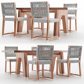 Table Montreale and Chair Dafne FLEXFORM