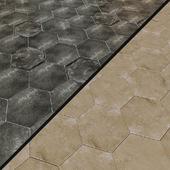 Porcelain tile EQUIPE URBAN Hexagon 5 options