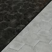Porcelain tile EQUIPE URBAN Hexagon Melange 5 options