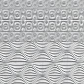 Gypsum 3D panel - Circular wave