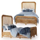 Aurelio wicker queen bed