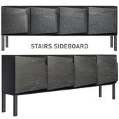 Stairs Sideboard - 4 Doors by Ethnicraft Oak