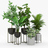 Manhart 2-Piece Iron Pot Planter Set