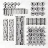 Конструктор бетонных бордюров / Concrete border construction