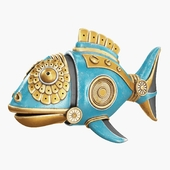 Steampunk fish figurine