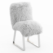Chair with fur upholstery Mongolian lamb