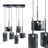 Подвесной светильник AXO Light Spillray SP lamps 6 black glass