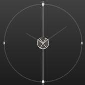 Wall clock in loft style, model Unum