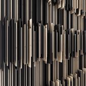 """Параметрическая деревянная панель """"Штрихи"""""""
