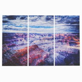Glass painting triptych Grand Canyon160x240cm (3 / Set)