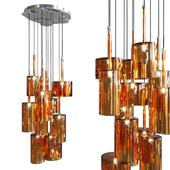Подвесной светильник AXO Light Spillray SP lamps 12 orange glass