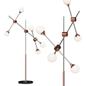 Торшер loft-concept Baton FLOR LAMP 5 copper white shades