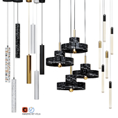 Four Pendant Lights amazing set vol13