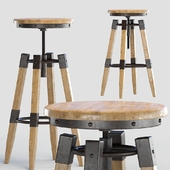 BY-lYJ Bar Stool Industrial Vintage Metal Cast Chic Tractor Seat Kitchen Metal Bar Stools