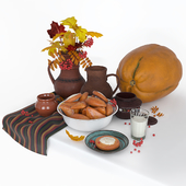 Осенний натюрморт с пирожками