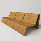 Large wicker chairs