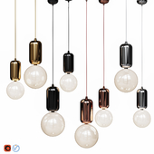 Светильники ABALLS T ME Black/Platinum/Gold/Copper