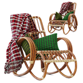 Palms rattan chair