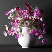 Букет из розовых цветов   Bouquet of pink flowers