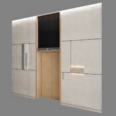 Wall panel elevator