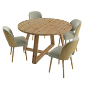 Dining set MARYL chair and CAPPADOCE table by Maisons du Monde