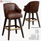 Leather Swivel Bar Stool L5002-52SW
