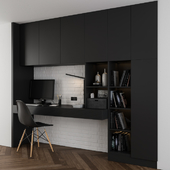 Black Home Office Set