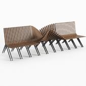 Adjustable outdoor bench