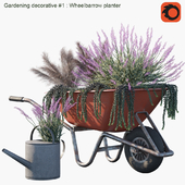 Gardening decorative # 1: Wheelbarrow planter