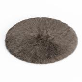 Round rug fur