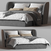 Rolf Benz 1400 Tondo Fabric Double Bed