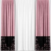 Розовые шторы.
