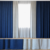 Curtains 49 | Curtains with Tulle | Sax Sunbrella and Lecce String