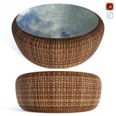 Rattan table Kiwi