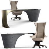 Visionnaire Planet armchair Jet desk