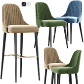 Karina Bar Stool And Chair 02