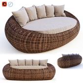 Rattan sofa Kiwi