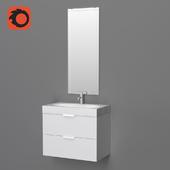 Godmorgon Braviken / Godmorgon Braviken sink with cupboard and mirror