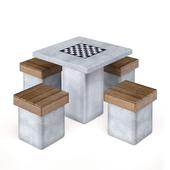 """Уличный стол """"Лотос"""" Аданат (комплект)"""