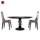 Tonin casa Pandora Table_Pietro Costantini Scanone Chair