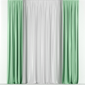 Transparent green curtains
