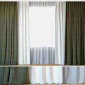 Curtains 52 | Curtains with Tulle | Kravet Smart and Kravet Basics (На перезаливку)