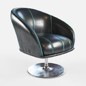 Armchair black leather