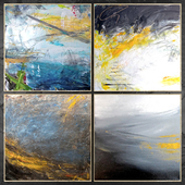 Paintings abstract | set 450