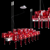 Люстра AXO Light Spillray SP lamps 26 red glass