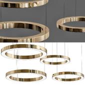 Modern Gold Leaf Murano Glass Chandelier