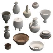 Набор глиняной посуды v1